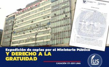 Expedición de copias por el Ministerio Público