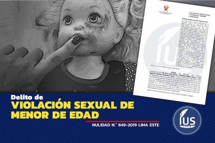 Delito de violación sexual de menor de edad