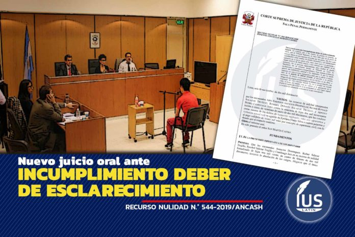 Nuevo juicio oral ante incumplimiento deber de esclarecimiento