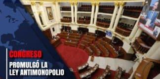 Congreso promulgó la ley antimonopolio