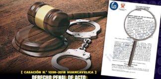Derecho penal de acto en lesiones leves y faltas contra la persona