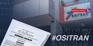 Ositran: delegan atribuciones a funcionarios para el año 2021