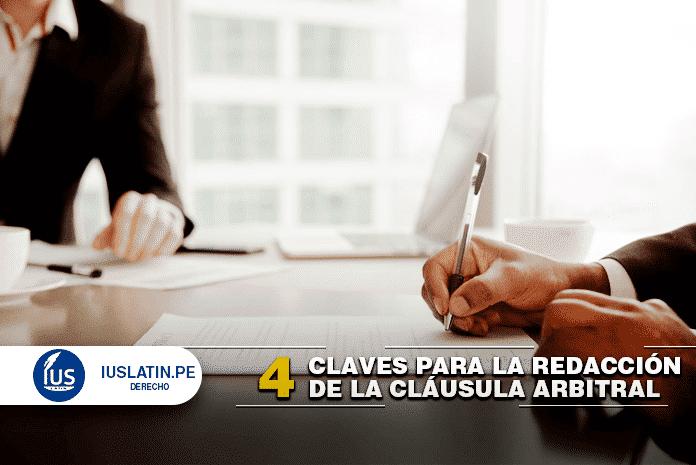 redacción de la cláusula arbitral