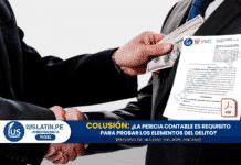 Colusión: ¿La pericia contable es requisito para probar los elementos del delito?