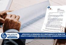 ¿Procede la demanda de cumplimiento si tiene por objeto cuestionar una resolución administrativa?