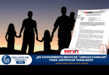 """¿Es conveniente invocar """"unidad familiar"""" para justificar traslado?"""