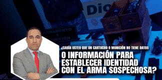 ¿Sabía usted que un cartucho o munición no tiene datos o información para establecer identidad con el arma sospechosa?