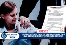 ¿Corresponde cese de trabajadora CAS que denunció hostigamiento sexual?
