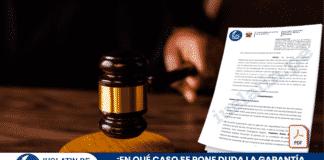 ¿En qué caso se pone duda la garantía de imparcialidad del juez?