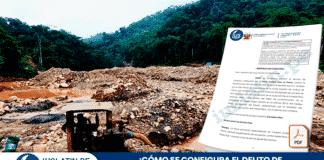 ¿Cómo se configura el delito de minería ilegal y el informe administrativo?