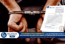 FALSEDAD DOCUMENTAL: ¿Las inconsistencias de la declaración del imputado enerva la presunción de inocencia?