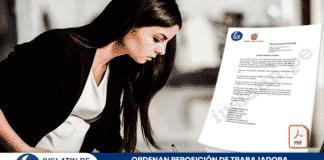 Ordenan reposición de trabajadora embarazada que laboraba en el régimen CAS