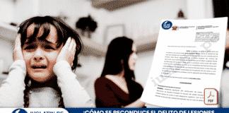 ¿Cómo se reconduce el delito de lesiones por violencia familiar a lesiones leves?