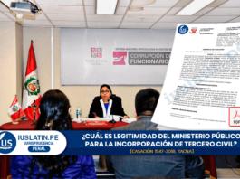 Cuál es legitimidad del Ministerio Público para la incorporación de tercero civil