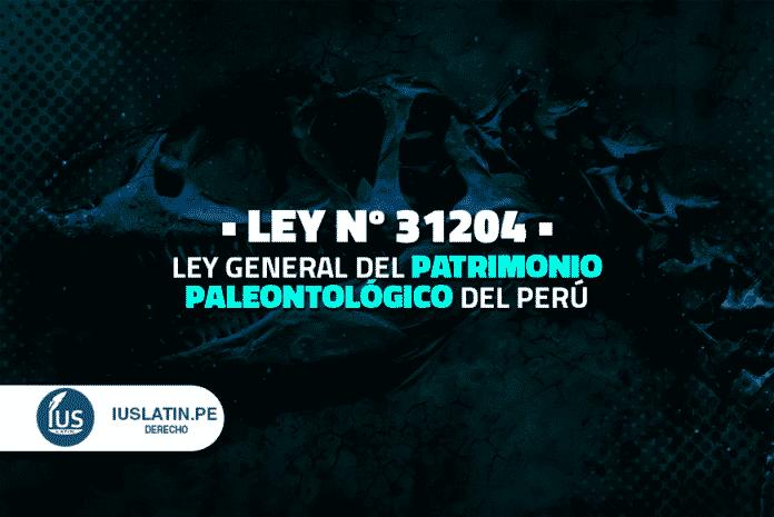 Ley General del Patrimonio Paleontológico del Perú