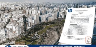 Pronunciamiento Judicial Previo a Solicitud de Cambio de Zonificación
