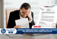 Entidad puede revisar el correo institucional del servidor para verificar falta
