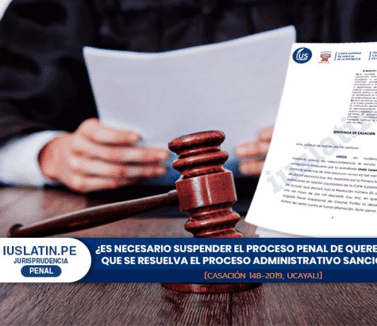 ¿Es necesario suspender el proceso penal de querella hasta que se resuelva el proceso administrativo sancionador?