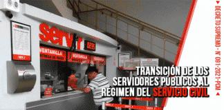 transición de los servidores públicos al régimen del servicio civil