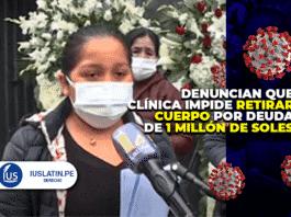 denuncian que clínica impide retirar cuerpo por deuda de 1 millón de soles