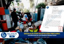 Desalojo por ocupación precaria