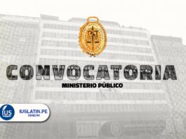 Ministerio Público realiza convocatorias para cubrir más de 60 plazas