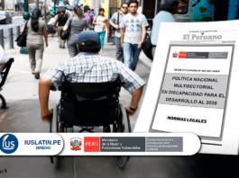 Política nacional multisectorial en discapacidad para el desarrollo