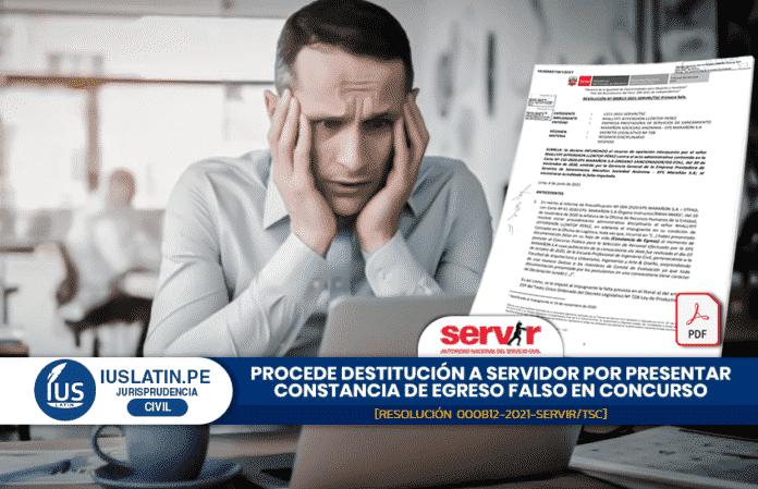 Procede destitución a servidor por presentar constancia de egreso falso en concurso