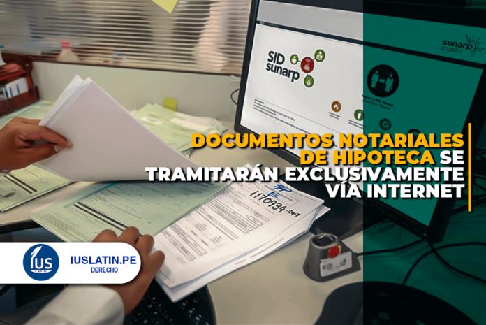 documentos notariales de hipoteca se tramitarán exclusivamente vía internet