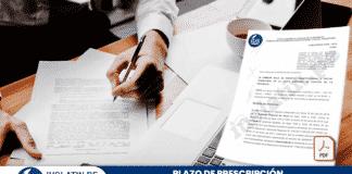 Plazo de prescripción de proceso administrativo
