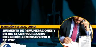 Aumento de remuneraciones y dietas se configura como infracción administrativa o delito