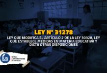 Ley 31278 Modifican ley que establece medidas en materia educativa sobre profesores contratados