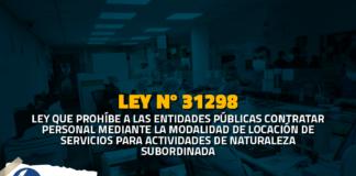 Ley 31298 Ley que prohíbe contratos de locación de servicios en el sector público