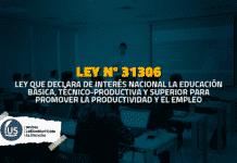 Declaran de interés nacional la educación básica y superior para promover el empleo