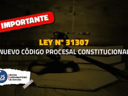Ley 31307 Nuevo Código Procesal Constitucional