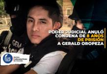 PJ anuló condena de 8 años de prisión a Gerald Oropeza