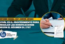 Cuál es el procedimiento para regular las bonificaciones según el régimen DL 276