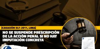 No se suspende prescripción de la acción penal si no hay imputación concreta