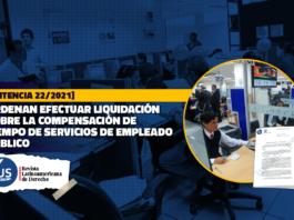 Ordenan efectuar liquidación sobre la compensación de tiempo de servicios de empleado público