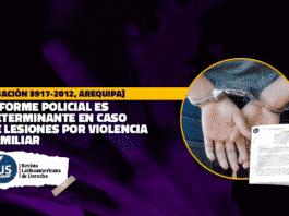 Informe policial es determinante en caso de lesiones por violencia familiar