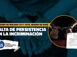persistencia en la incriminación