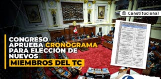 Congreso aprueba cronograma para elección de nuevos miembros del TC