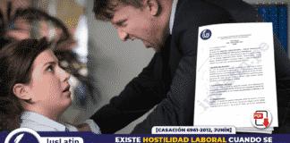 Existe hostilidad laboral cuando se reduce categoría profesional aunque se conserve el mismo sueldo