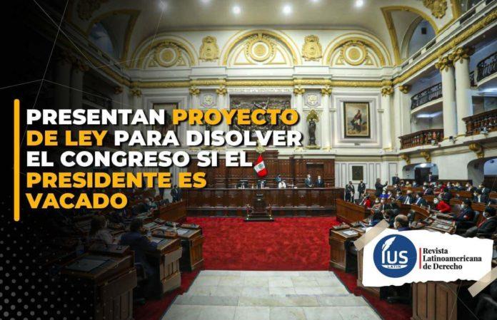 Presentan proyecto de ley para disolver el Congreso si el presidente es vacado