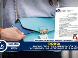 Robo emerge duda de la intervención del acusado en los hechos que se le imputan