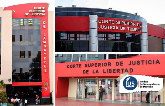 Visitas judiciales se realizarán en diferentes órganos jurisdiccionales de las Cortes de La Libertad, Lambayeque y Tumbes
